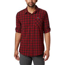 Columbia Triple Canyon Chemise manches longues Homme, mountain red mini tonal plaid